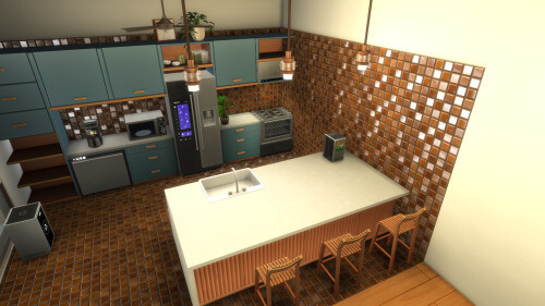 Sims 4 Eco Kitchen New Counters and Appliances