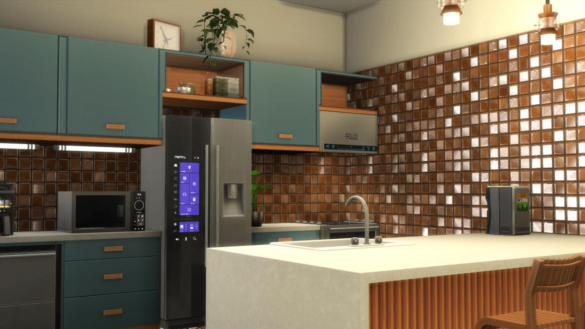 The Sims 4 Eco Lifestyle Kitchen CC