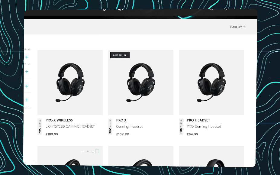 Lineup of the different Logitech headsets