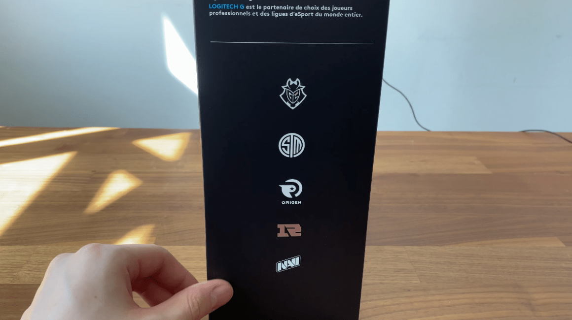 Logitech G Pro X Box Side with E Sports Player Logos