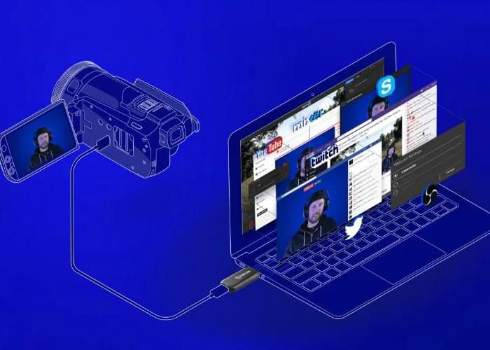 Image: Elgato; using a camcorder as streaming camera